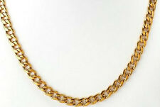 MENS/WOMENS 18K GOLD FILLED STAINLESS STEEL CURB CHAIN NECKLACE. 7MM