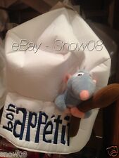 DISNEY  RATATOUILLE HAT REMY CHEF HAT NEW ''Bon Appetit.''Culinary Delights