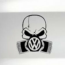 VW PISTON GASKMASK CAR BUMPER SHOW STICKER FUNNY DRIFT JDM DECAL VINYL VAN