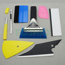 Auto 3D Film Sticker Decal Wrapping Vinyl Sheet Squeegee Installation Tool Kits