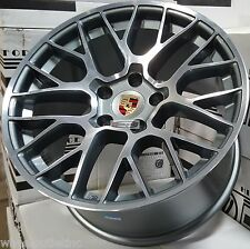 "19"" Staggered Rims Gunmetal Wheels Fits Porsche Panamera GTS Turbo Cayenne 20"