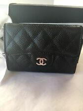 Auth BNIB Chanel Classic Timeless O-Card Holder Coin Purse Snap Pouch Wallet