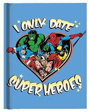 Marvel Superhereos Hard Cover Journal with Ribbon Book Mark by Silver Buffalo