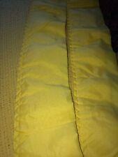 Vintage Acrylic Thermal Weave Blanket RETRO YELLOW  SATIN Binding 80x90