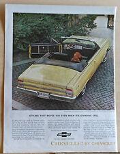 1964 magazine ad for Chevrolet - Chevelle Malibu Sport Convertible, classic