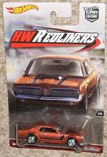 HOT WHEELS Car HW Redliners '68 Mecury Cougar Copper Real Riders MOC Toy