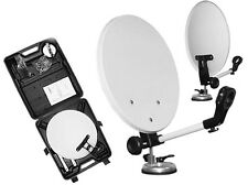 Camping Satellite Dish Pack - 35cm Dish & Case + LNB Holder Sky Freesat
