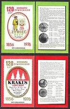 POLAND 1976 Matchbox Label - Cat.G#412/19 Żywiec Brewery 120 years from 1856 to