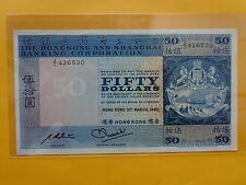 Hong Kong 50 Dollars 31st March 1982 (Choice UNC)