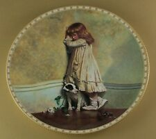 """A Victorian Childhood THE ORIGINAL """"IN DISGRACE"""" Plate #1 Royal Doulton Dog"""