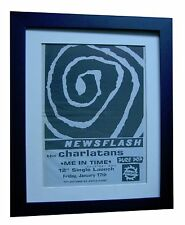 THE CHARLATANS+ME IN TIME+POSTER+AD+RARE ORIGINAL 1992+FRAMED+FAST GLOBAL SHIP