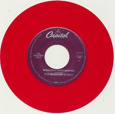 "PAUL McCARTNEY (Beatles) 45 single COLORED Vinyl ""Wonderful Christmas""/""Rudolph"""