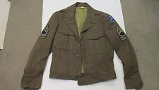 WW2 US ARMY IKE JACKET W/ INSIGNIA SIZE 36 REG WOOL 79TH INFANTRY DIV MASTER SGT