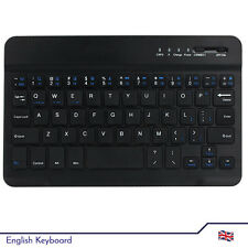 English Mini Keyboard Bluetooth to Tablet Android, Windows, IOS - Wireless Black