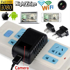 HD 1080P WIFI SPY Hidden Wall Charger IP Camera Adapter DVR Video Recorders Cam