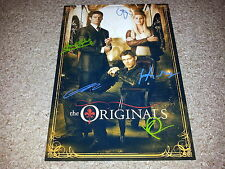 "THE ORIGINALS PP CAST X5 SIGNED 12""X8"" A4 PHOTO POSTER VAMPIRE DIARIES N2"