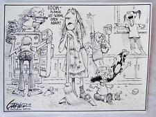 """Editorial Cartoon William """"Bill"""" Garner 1978 signed Memphis Commercial Appeal"""
