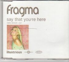 (EX408) Fragma, Say That You're Here - 2001 DJ CD