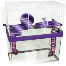 3 LEVEL HIGH RISE CAGE & ACCS FOR YOUR 10 GALLON TANK HAMSTERS, MICE, GERBIL