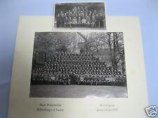 2 alte Fotos: Bayer. Polizeischule Rothenburg ob der Tauber 30. Lehrgang 1955