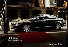 Preisliste Mercedes CL 8.4.09 2009 63 65 AMG 600 500 Autopreisliste Auto PKWs