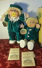 OOPS Vtg Cabbage Patch Kids Twins boy and girl w/Pacifier Limited Edition NO BOX