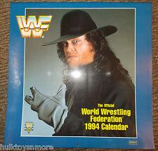 WWF Calendar 1994 Undertaker Macho Man Randy Savage Ultimate Warrior Tatanka WWE