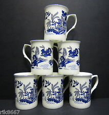 Set Of 6 Bailey's Willow pattern Wrap Fine Bone China Mugs Cups Beakers