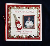 Handmade Personalised Birthday Card Dad/Son/Husband/Nephew/Brother with Photo