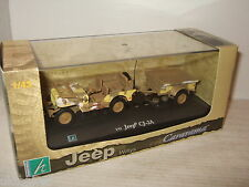 New Cararama Military Style Willys Jeep CJ-2A with Trailer in 1:43 Scale