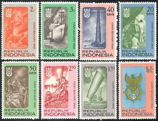 Indonesia 1966 Lighthouse/Ships/Boats/Harbour/Crane/Sail/Transport 8v set n41125