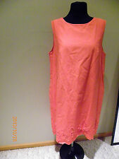 NWT Joe fresh orange woman ladies sleeveless dress, long top size S
