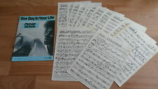 MICHAEL JACKSON - ONE DAY IN YOUR LIFE  (VERY RARE SHEET MUSIC - +13 SHEETS ! )