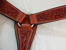 Billy Cook Leather Breast Collar Horse Pro Barrel Racer Sheridan Floral Tool CHN