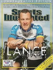 LANCE ARMSTRONG SPORTS ILLUSTRATED AUTOGRAPH AUTO PSA DNA CERTIFIED AUTHENTIC
