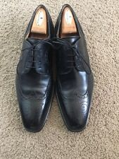 Men's Magnanni Sergio Wingtips Shoes Black 10 US D Leather