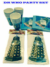 Doctor Who Childrens Party Set - Invites, Invitations, Napkins and Party Cups!