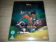 Bambi Steelbook (Blu-ray Disc) Disney Zavvi *Perfect Copy* Region Free NEW OOP