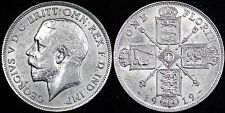 1919 High Grade George V Solid Silver Florin Ref 01336