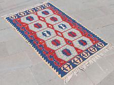 Turkish Kilim Rug 44''x64'' Hand Woven West  Anatolian Kilim 112x164cm