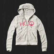 New Hollister By Abercrombie Women Applique Embroidered Logo Graphic Hoodie NWT