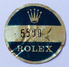 ROLEX VINTAGE Caseback Certificate Sticker 5500 Airking Air King