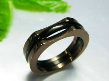 GIFTS FOR MEN Stainless Steel Black & Dark Copper Tone Surf Ring Band Size 12 X