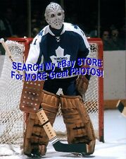 "HOFer #1Jacques PLANTE as ""ET"" TORONTO Maple LEAFS Custom LAB Action 8X10 NEW !!"