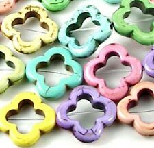 20mm Beauty Colorful Turquoise Frame Flower Beads (10)