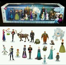 New! Disney Store Frozen Fever Mega PVC 20 Piece Figure Play set Elsa Olaf Anna