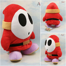 "Super Mario Plush Teddy - Shy Guy Soft Toy - Size: 10"" / 25cm - NEW"