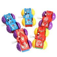 Somersault Bounce Cars Two-sided Pattern Clockwork Funny Kids Children Toys Gift