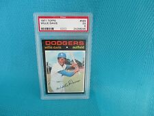 1971 TOPPS.....PSA  GRADED...EX 5 NQ...# 585  WILLIE  DAVIS.....LA  DODGERS