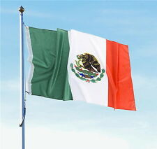 """WHOLESALE LOT OF 12 MEXICAN FLAG 3 X 5 FEET WITH BRASS GROMMETS 36"""" X 60""""  FLAGS"""